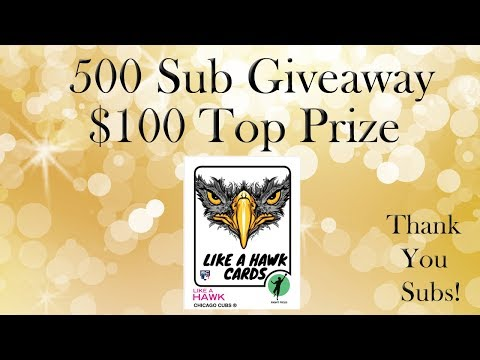 500 Sub Giveaway - First Prize - $100 In Ebay, Paypal Or Online Card Retailer - You Choose!