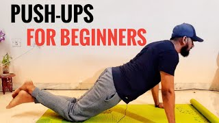 How to do push-ups for beginners in telugu  At home  both men &amp women