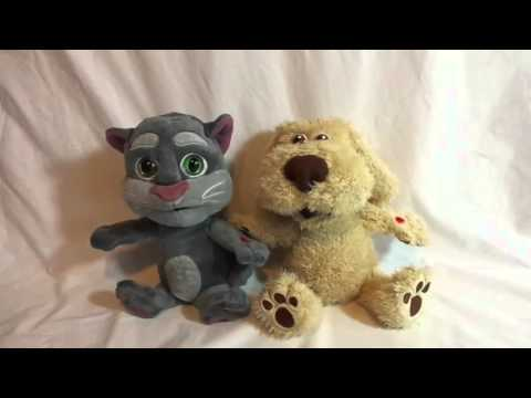 Talking Tom and Friends TOM CAT and BEN DOG Record Replay Plush Interactive