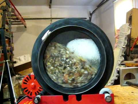 Cleaning Pennies In A Rock Tumbler