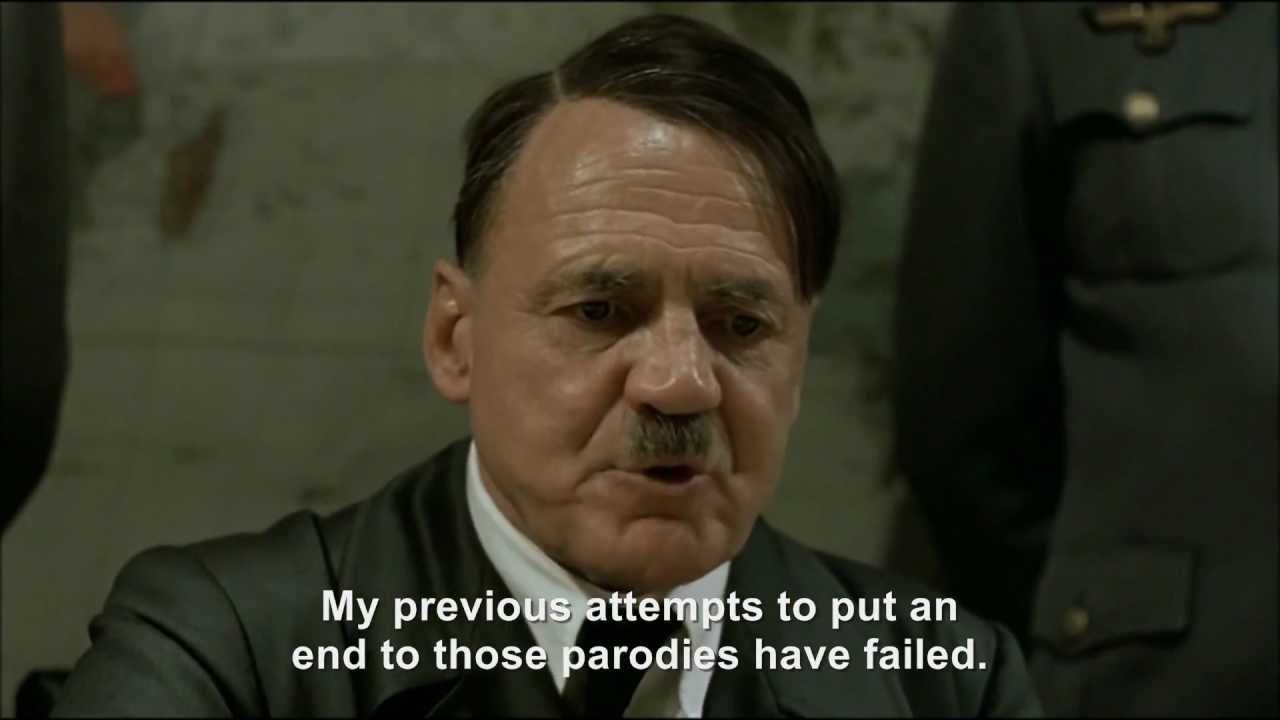 Hitler plans the downfall of the Downfall parodies