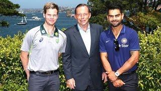 Australian PM hosts Indian cricket team at tea party