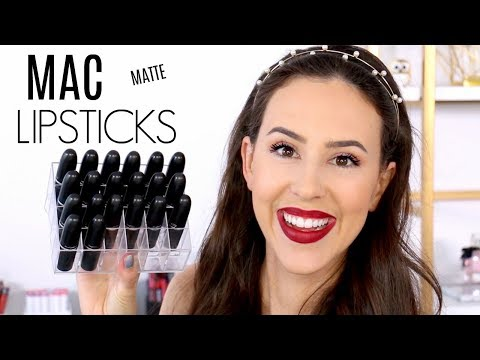 mac-lipstick-collection-||-matte-finish-review-||-favorites,-swatches-&-wear-test