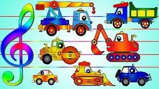 Рабочие Машины мультфильм 2 (мультик про машину и джип под новую музыку)