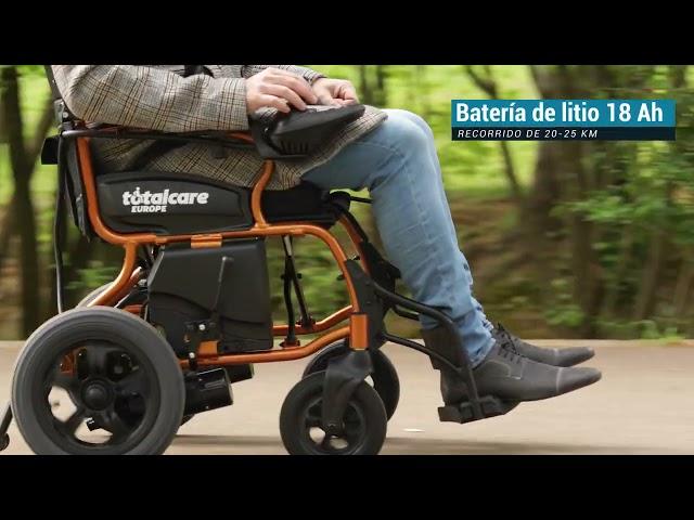 Martinika silla de ruedas plegable eléctrica ligera
