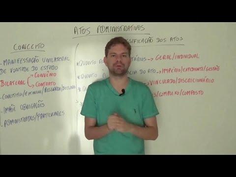 Atos Administrativos - Conceito e Classificação - Curso de Direito Administrativo