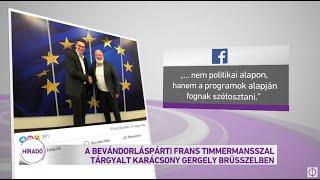 A bevándorláspárti Frans Timmermansszal tárgyalt Karácsony Gergely Brüsszelben
