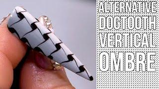 Alternative Dogtooth Nail Design - Vertical Ombre