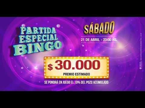Bingo Golden Palace - Partida Especial Abril 2018