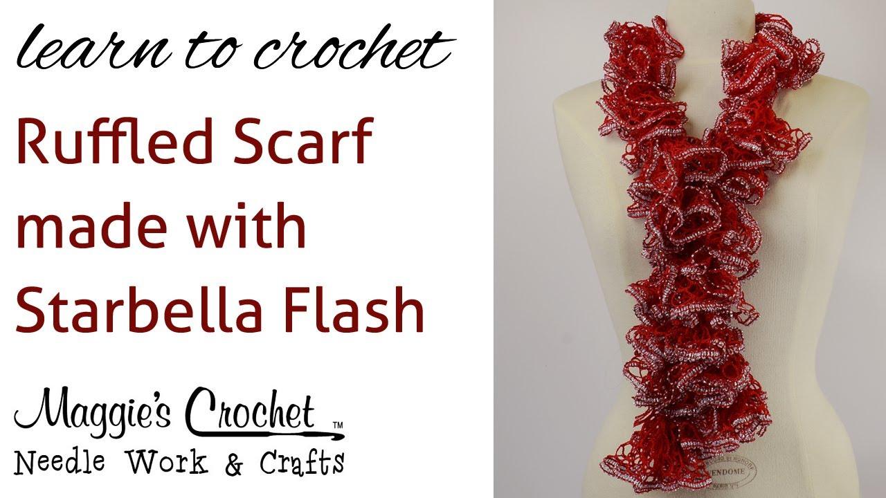 Crochet super easy ruffled scarf using starbella flash yarn youtube dt1010fo