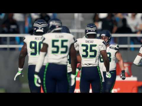 Madden 18 Seattle Seahawks vs Carolina Panthers