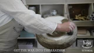Vintage Paint | How to paint and patinate an old leather stool