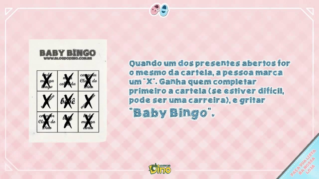 Well-known Baby Bingo: Brincadeiras para chá de bebê - chá de fralda - Dica  KE76