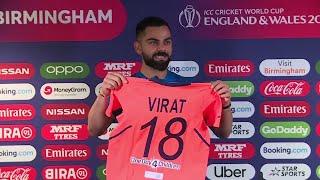 Virat Kohli unveils orange jersey; calls England's performance surprising