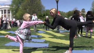 2012 White House Easter Egg Roll - Yoga Garden