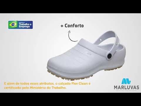 e769ebbbf1 Sandália Marluvas Flex Clean Ocupacional EVA - 102 FCLEAN BRANCO - Polo do  EPI - Muito mais Segurança para você!