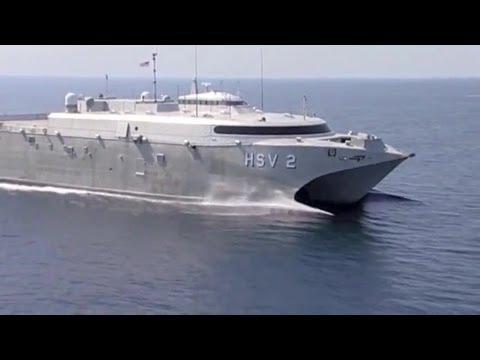 Incat - US Navy HSV 2 Swift Catamaran High Speed Vessel [480p]