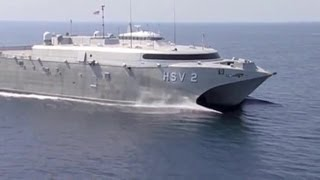 Incat - US Navy HSV 2 Swift Catamaran High Speed Vessel [480p]