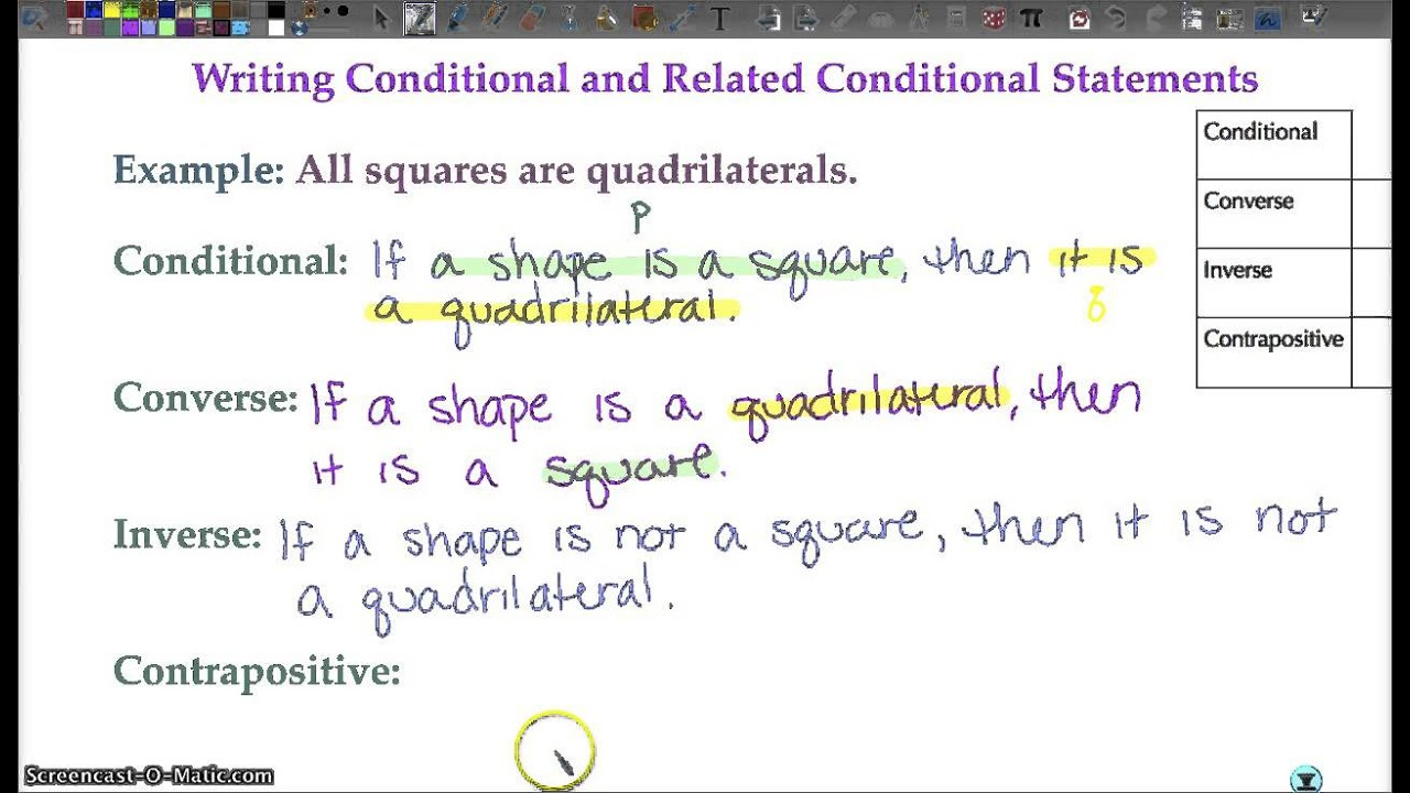 Geometry 1 3 Conditional Statements