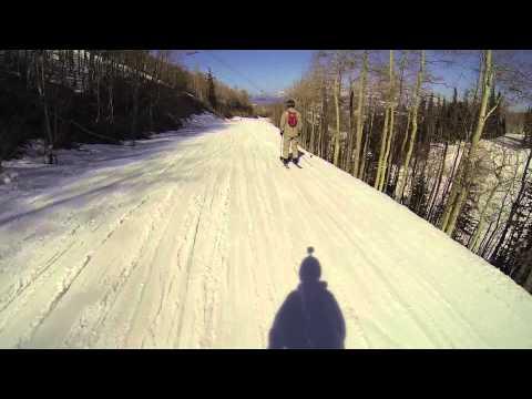 Skiing Homerun Park City, Utah