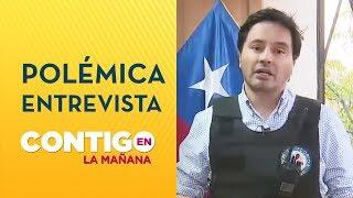 POLÉMICA: Alcalde Carter dio entrevista con chaleco antibalas - Contigo en La Mañana
