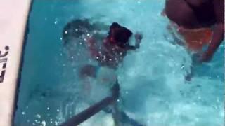 little black babygirl falls in pool 10 times.