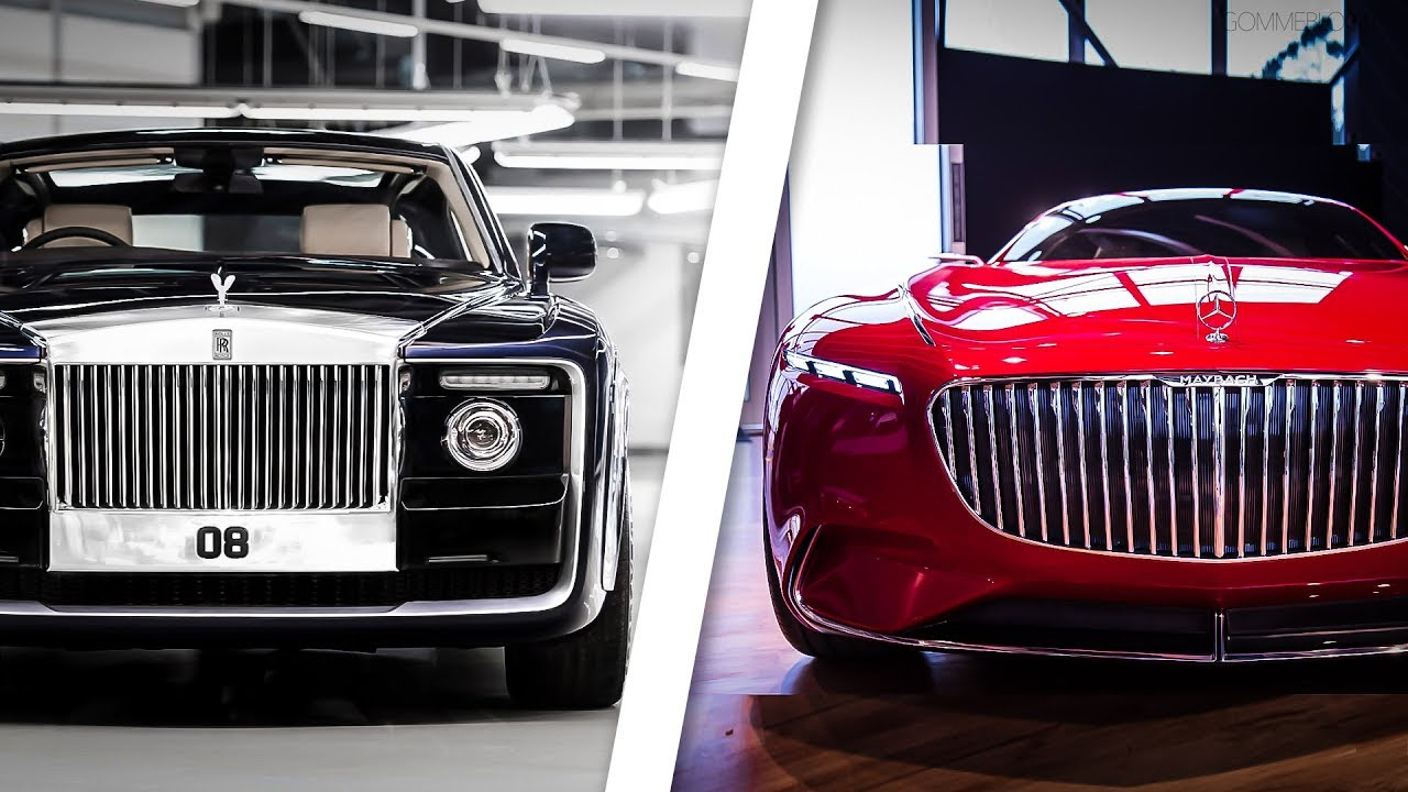 rolls royce sweptail vs vision mercedes maybach 6 youtube. Black Bedroom Furniture Sets. Home Design Ideas