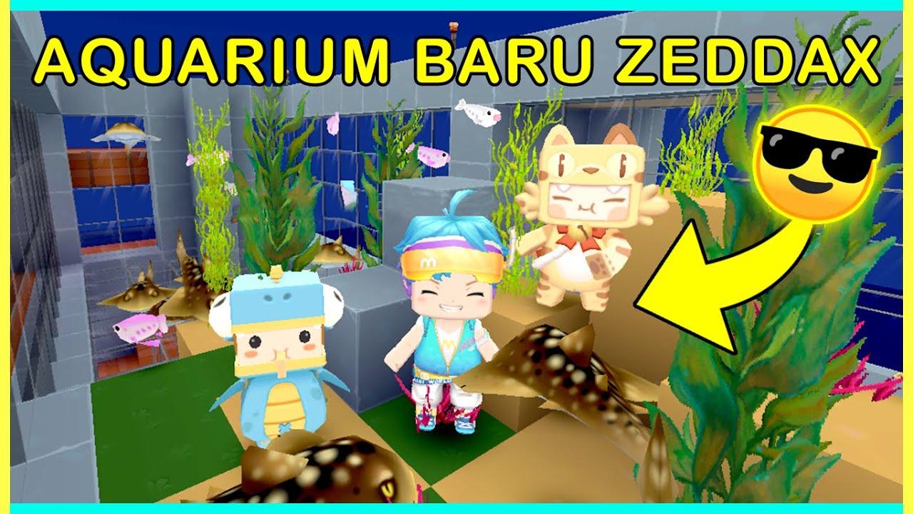 ZEDDAX BIKIN AQUARIUM!! EH.. MALAH DIRUSAK PETREK!! HAHA.. (Mini World Block Art Survival Eps.11)