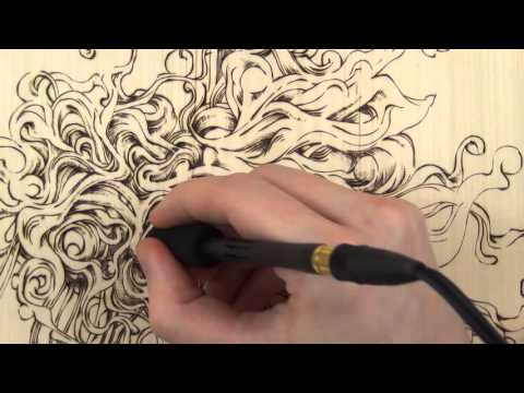 Freehand Abstract Woodburning Pyrography Youtube