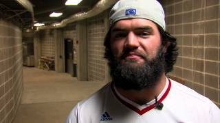 Ben Heeney Throws Out First Pitch at Royals Game // Kansas Football
