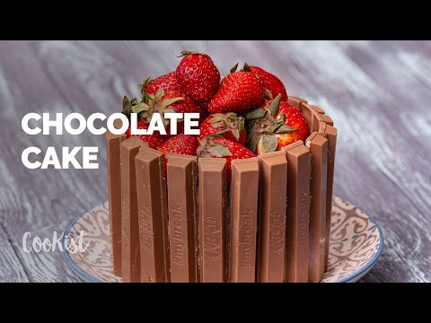 Chocolate Cake With Strawberries: Beautiful And Delicious!
