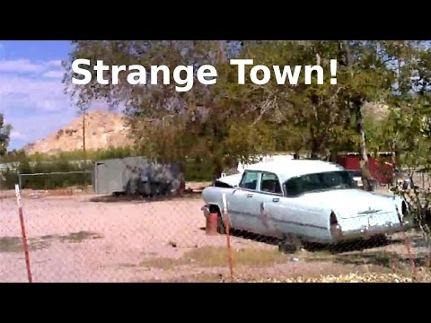 Another Strange Odd Creepy Town In Nevada Desert Near Area 51! Abandoned Cars & Trucks