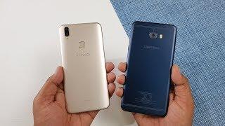 Vivo V9 vs Samsung C7 Pro Speed Test Comparison !