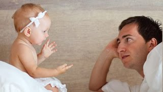 Baby argues with Daddy so angry OVER nothing | Funny Father and Baby Compilation