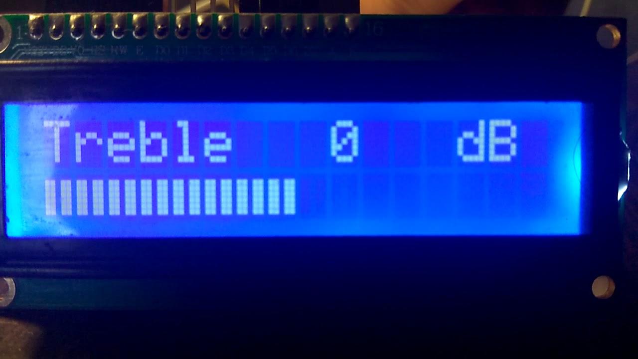 Аудиопроцессор TDA7313 (Arduino)