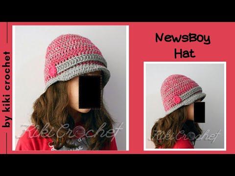 910743d4bae Crochet Newsboy Hat - YouTube