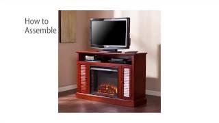 FE9304: Antebellum Media Fireplace - Classic Mahogany Assembly Video