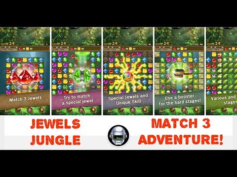 Jewels Jungle (mobile) match 3 - JUST GAMEPLAY