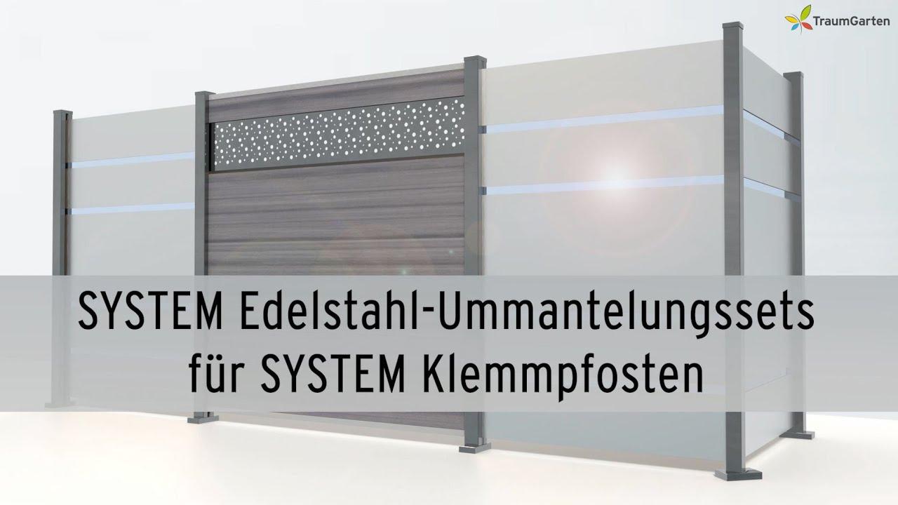 System Pfosten Mit Edelstahl Veredeln Traumgarten System