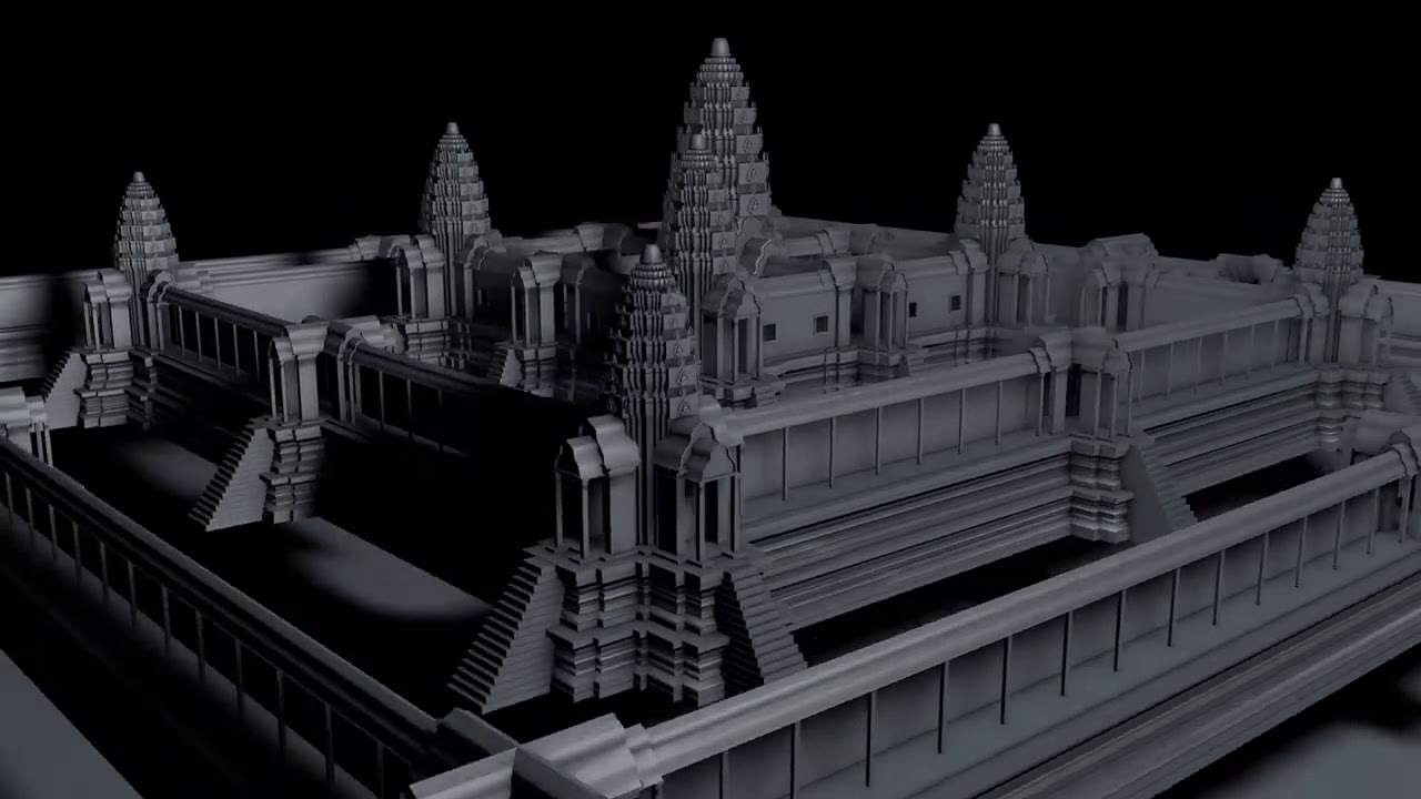 Angkor wat temple free 3d model!