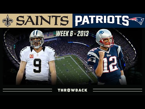 [NFL Throwback] Brady & Brees Matchup Ends is Last Second Drama! (Saints vs. Patriots 2013, Week 6)