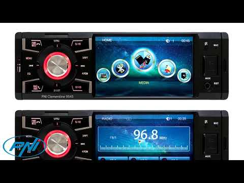 """MP5 player auto PNI Clementine 9545 1DIN display 4"""", 50Wx4, BT, radio FM, SD/USB, RCA video IN/OUT"""