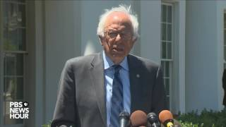 Bernie Sanders talks campaign's next steps after White House visit