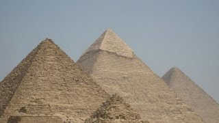 Giza Desrt, Pyramids, and the Sphinx in Egypt