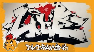 Graffiti Tutorial - How to draw graffiti love wildstyle letters