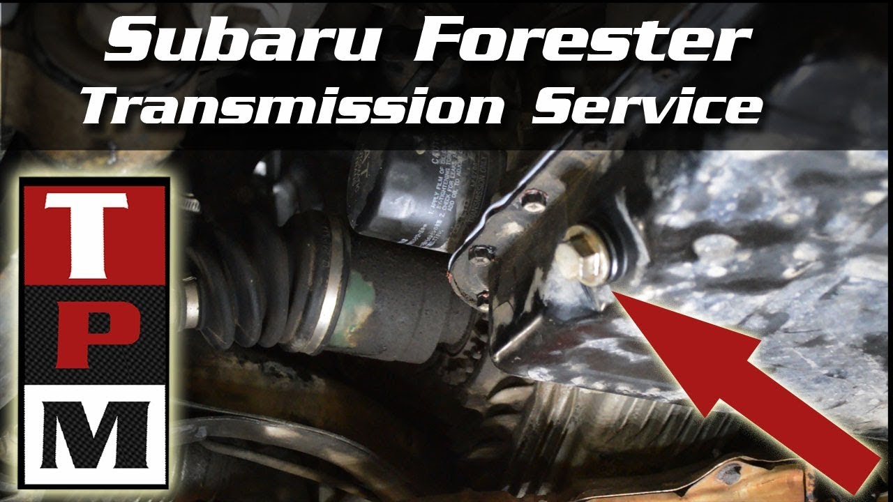 2001 subaru forester automatic transmission filter and fluid change