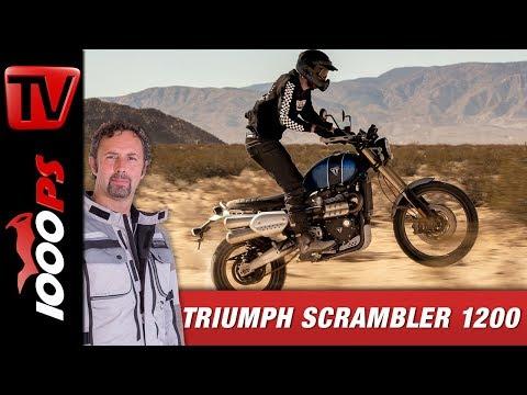 Triumph Scrambler 1200 XC / XE – die ersten echten Retro-Offroader!