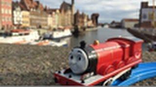 【trem de brinquedo】Thomas e Seus Amigos James @ Rio Motława de Gdansk, na Polônia 00275 pt