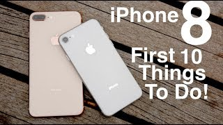Video iPhone 8 (Plus): First 10 Things To Do! download MP3, 3GP, MP4, WEBM, AVI, FLV Maret 2018