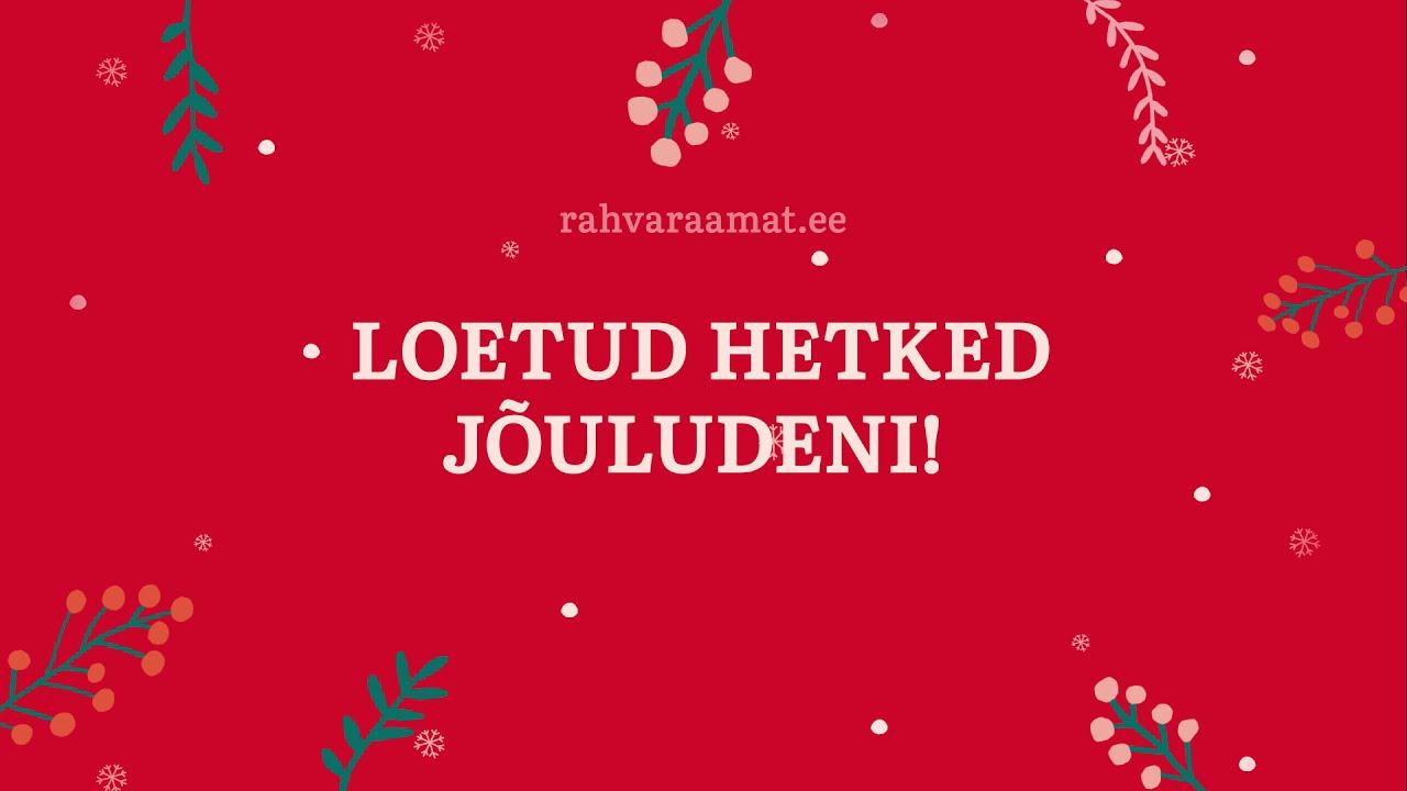 Loetud hetked jõuludeni!